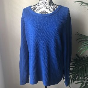 Medium weight blue sweater